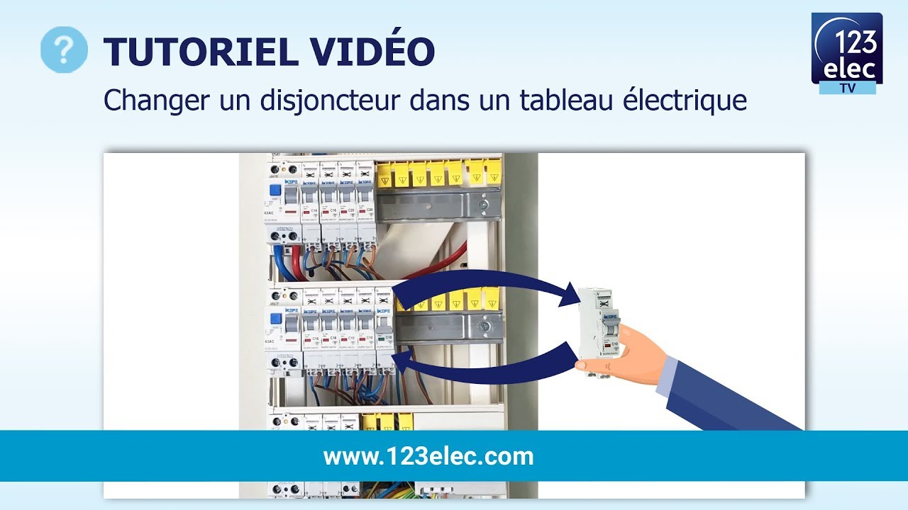 changer un disjoncteur dans un tableau electrique