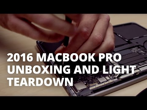 13-inch MacBook Pro Late 2016 Unboxing and Teardown