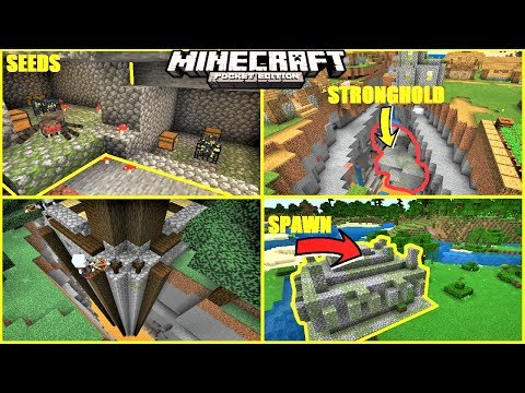 Minecraft PE - BEST SEEDS FOR SUMMER 2019 ! SPAWN ON JUNGLE TEMPLE, DOUBLE DUNGEON & MORE | 1.12