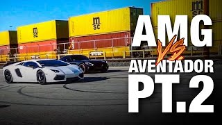 RACING MERCEDES-BENZ AMG GT VS LAMBORGHINI AVENTADOR FT @Tall Guy Car Reviews
