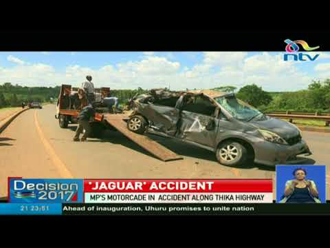 """Starehe MP Charles """"Jaguar"""" Kanyi's motorcade involved in accident along Thika Highway"""