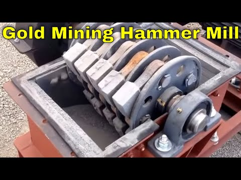 Gold Mining Hammer Mill Crusher, Crushing Gold Ore To Fine Dust For Precious Metal Recovery MBMM