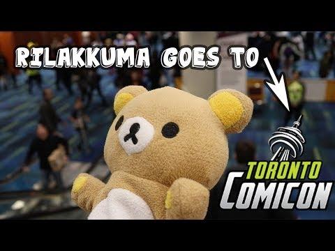 Rilakkuma goes to Toronto Comic Con 2018