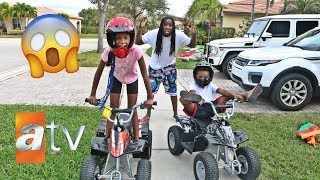 THE KIDS GOT ATV's FOR CHRISTMAS THEY FELL OFF