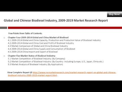 Global and Chinese Biodiesel Industry Research Report 2009-2019