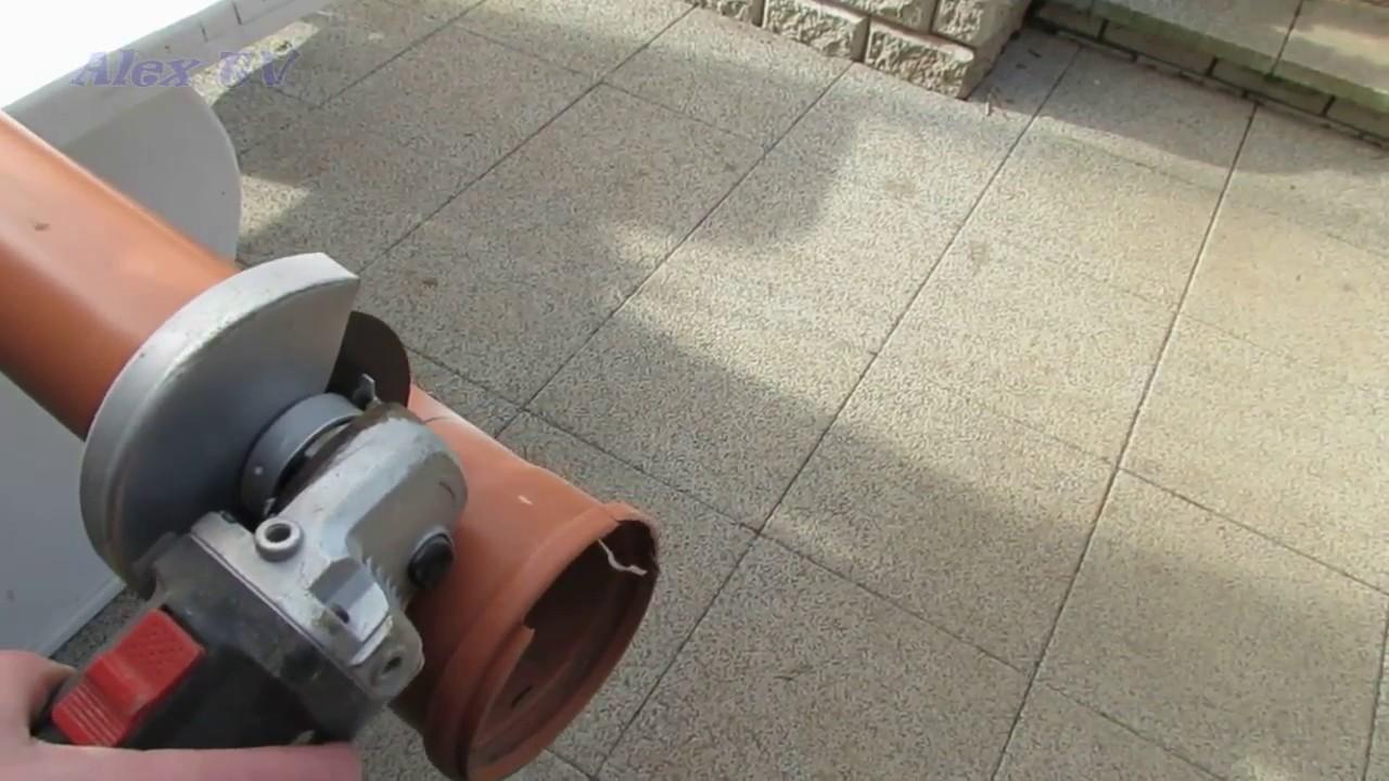 Gut gemocht Kunstoff Rohr rechtwinklig anzeichnen und mit winkelschleifer SH85
