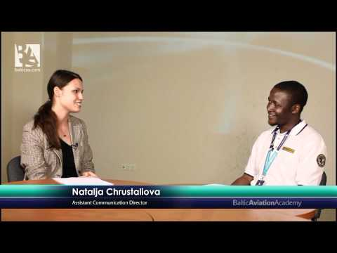 Baltic Aviation Academy interviews Ab initio student from Kenya