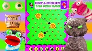 Fizzy and Phoebe Play the Halloween Disk Drop Game