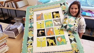 1 Panel + 1 Charm Pack = 1 Precious Baby Quilt!