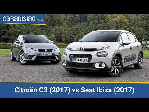 Comparatif - Citroën C3 (2017) vs Seat Ibiza (2017) : les pointures