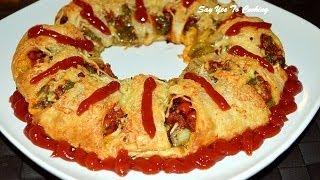 Cheesy Ring Pizza..