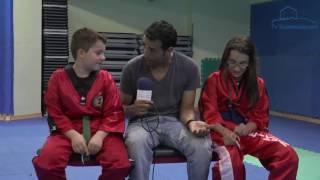 Izan e Nayara alumnos do Ximnasio Club Arcade