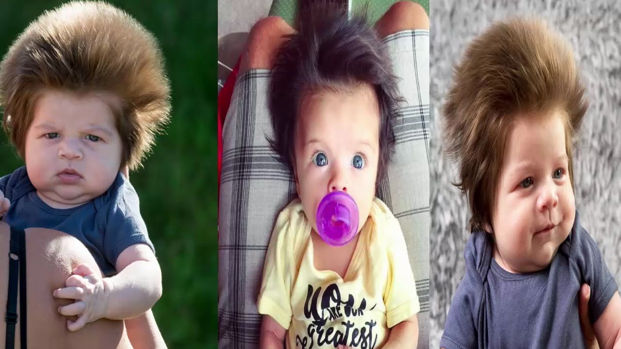 Top 10 Babies With Crazy Long Hair Youtube