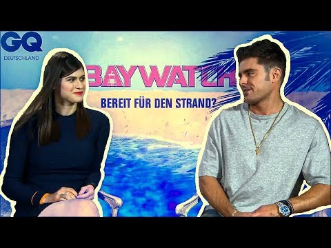 Zac Efron Makes Alexandra Daddario Blush (Flirty Interview)