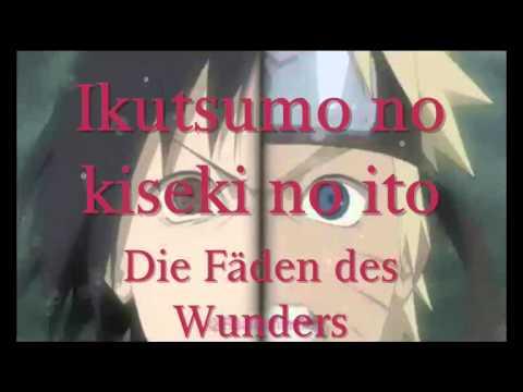 Naruto Shippuuden Ending 21 - Cascade ~ Lyrics + Ger Sub