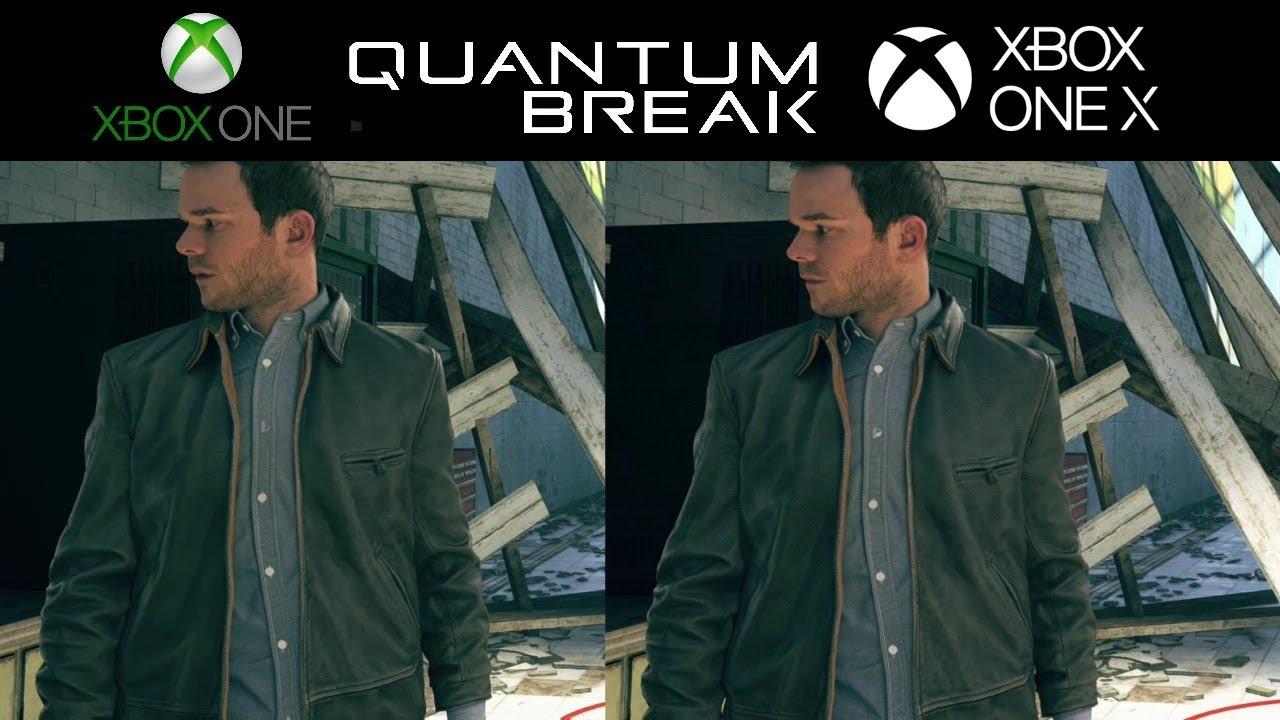 Xbox one S vs Xbox one X Quantum Break comparison 4K - YouTube