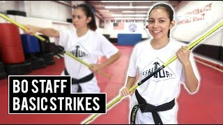 BO STAFF BASIC STRIKES | Bo Staff for Beginners