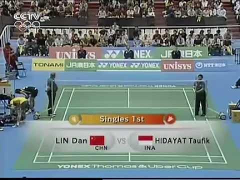 2006 Thomas Cup Semi Final - Taufik Hidayat[IND] Vs Lin Dan[CHN]