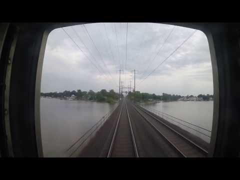 Amtrak Train 172 - Martin Airport to Wilmington Rear View (GoPro)