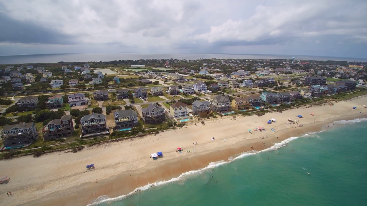Drone Flyover Of Avon Nc Obx Pt 1