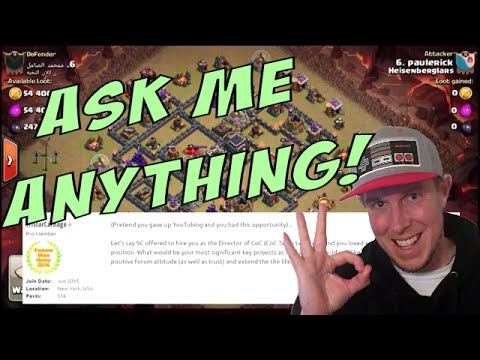 Clash of Clans AMA / Q&A - From XMOD BANS to MOVIES I answer it ALL!