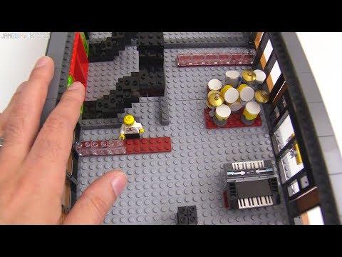 Time-lapse ⏩ Custom LEGO music shop MOC progress 3
