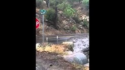 Flooding on McCall Park Road - Mountain Center and Idyllwild, California