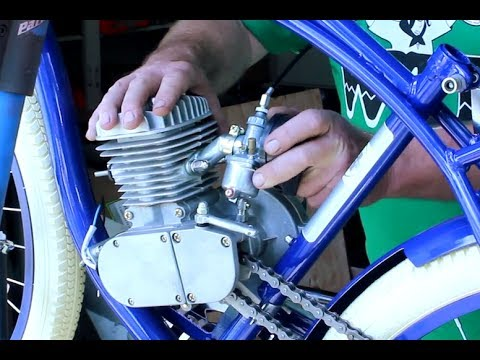 How To Build Motorized Bicycle Part 6 - Installing Carburetor and Throttle Assembly