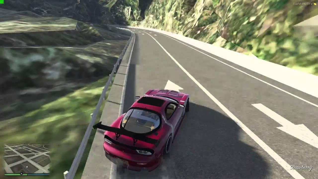 【FiveM】「Fujimi Kaido Uphill Run」(GTA V Online Map Mod Drifting)