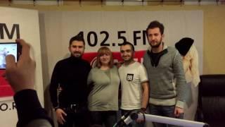 """В студии Comedy Radio. Шоу """"Счастливые люди"""". Николай Сердотецкий, Михаил Фишер и Иван Багзин."""