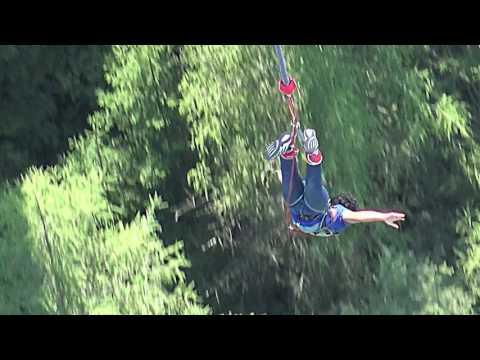 192m bungy jump at Europa bridge Innsbruck