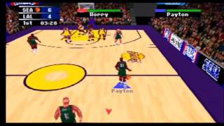 NBA Action 98 Sonics vs Lakers Part 1