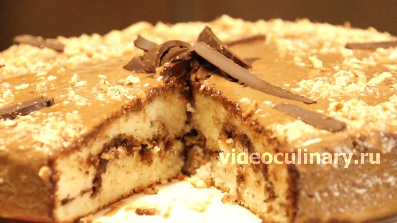 видео рецепт орехового торта
