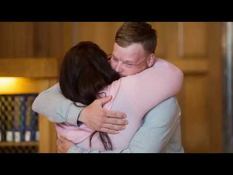 Mayo Clinic's first face transplant patient meets donor's family