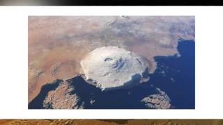 Olympus Mons shield volcano on the planet Mars.