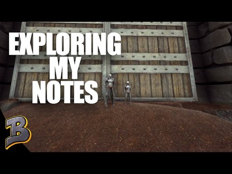 Exploring My Notes! Easy Levels! Ark Survival Evolved PvP The Volcano Ep 2