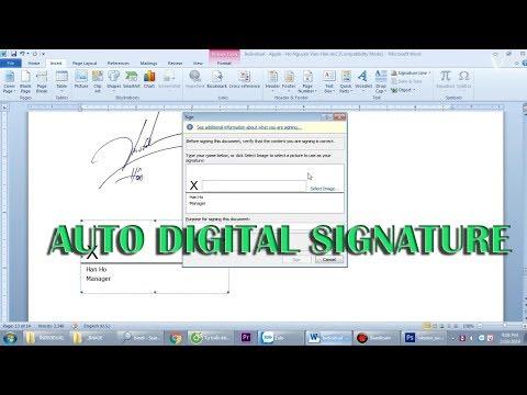 ✅ Cách tách nền file ảnh tạo chữ ký điện tử tự động trong MS Word