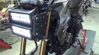 Super Bright White 6000K Kawasaki Z125 Pro LED Headlight Bulb Conversion Kit