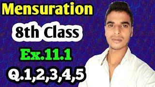 Mensuration: Class 8 maths chapter 11.1- Q.1,Q,2,Q.3,Q.4,Q.5 solutions.