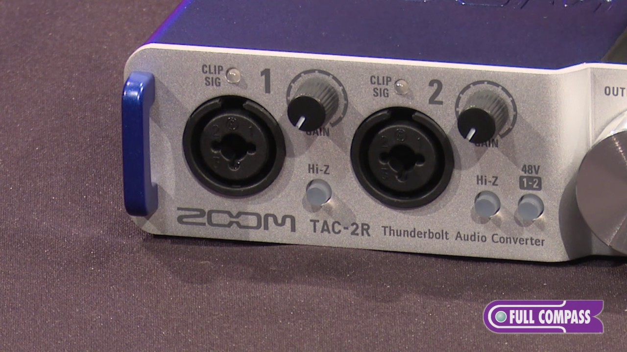 zoom tac 2r 2 channel thunderbolt audio interface features full compass youtube. Black Bedroom Furniture Sets. Home Design Ideas