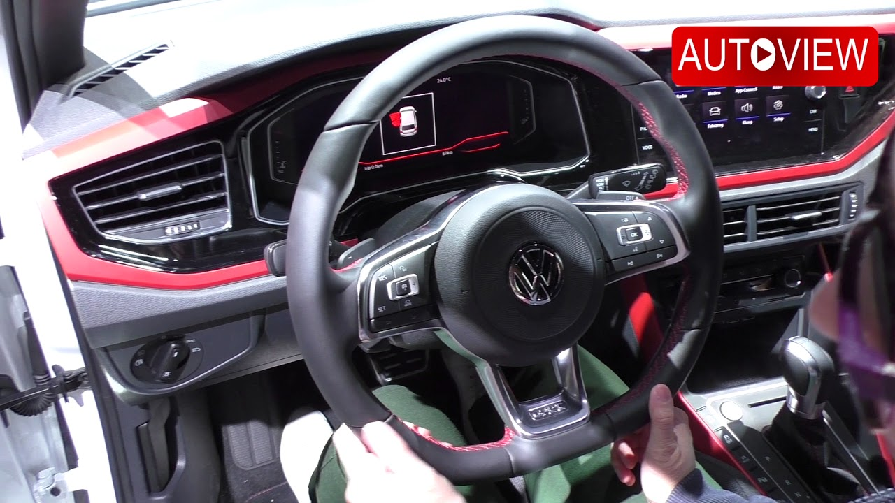 2018 vw polo gti facelift virtual cockpit interieur youtube. Black Bedroom Furniture Sets. Home Design Ideas
