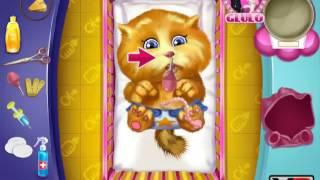 Анжела и новорожденный котенок мультик игра для детей про говорящих котов