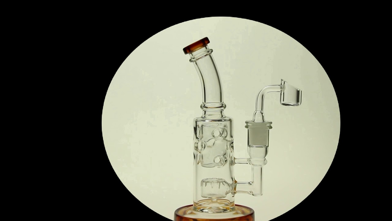 8 Inch Tall Mothership Bongs Straight FAB Oil Rigs - YouTube