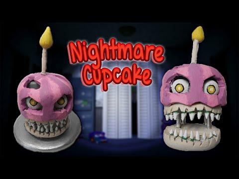 FNAF 4 ✰ Nightmare Cupcake Tutorial ✰ Polymer Clay ✰ Porcelana Fría ✰