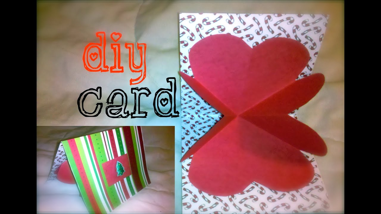 DIY Boyfriend Heart Love Card 12 Days of Crafting YouTube – Handmade Birthday Card for Lover