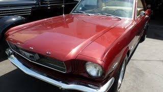 Mustang Coupe 1966 Burgundy