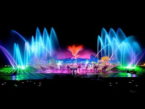 Singapore Sentosa wings of time show -HD