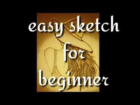 Beginner sketch: Summer girl || easy steps|| by POOSSTOO