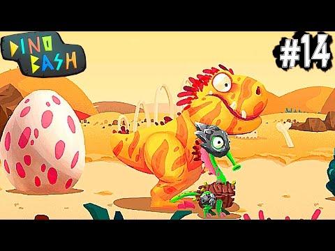 Динозавры Атака Троглодитов #14. DINO BASH игры динозавры как мультики про динозавров.Dinosaurs