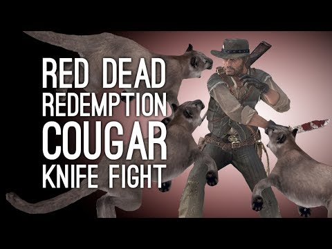 Let's Play Red Dead Redemption: COUGAR KNIFE FIGHT! - Episode 27